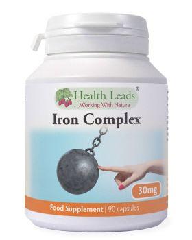 Health Leads Elementares Eisen Komplex 30mg 90 Kapseln