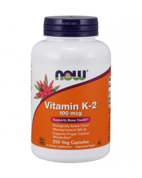 Now Foods Vitamin K-2 100mcg 250 Veg Capsules