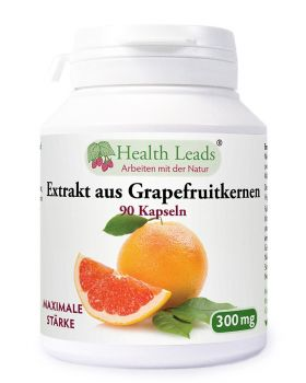 Health Leads Grapefruitkernen Extrakt 300mg x 90 Kaps