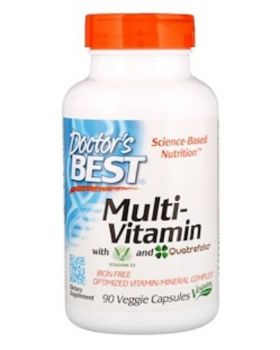 Doctor's Best Multi-Vitamin m. Vitashine D3 + Quatrefolic 90 Kaps