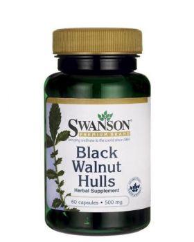 Swanson Vollspektrum Schwarze Walnussschalen 500 mg 60 Kapseln
