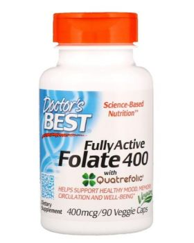 Doctor's Best Voll aktives Folat 400 Quatrefolic 400 mcg 90 kaps