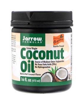 Jarrow Formulas, Extra-natives Bio-Kokosnussöl, Vertreiber-gepresst, 473 g