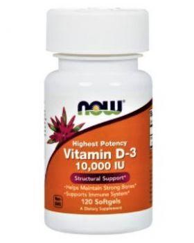 Now Foods Vitamin D-3 10.000 IU 120 Softgel-Kapseln