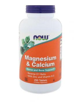 Now Foods Magnesium & Kalzium 2:1 Reverse Ratio 250 Tabletten