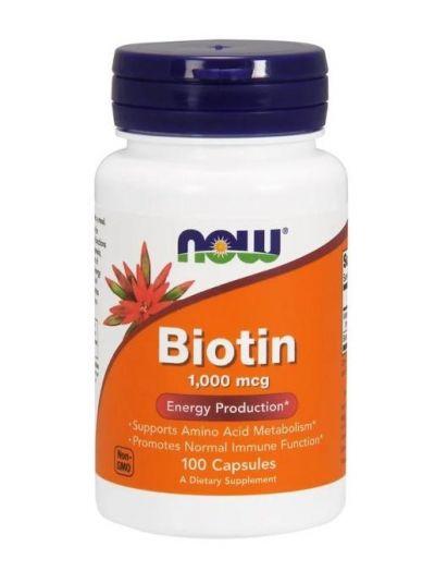 Now Foods Biotin 1000 mcg 100 Kapseln