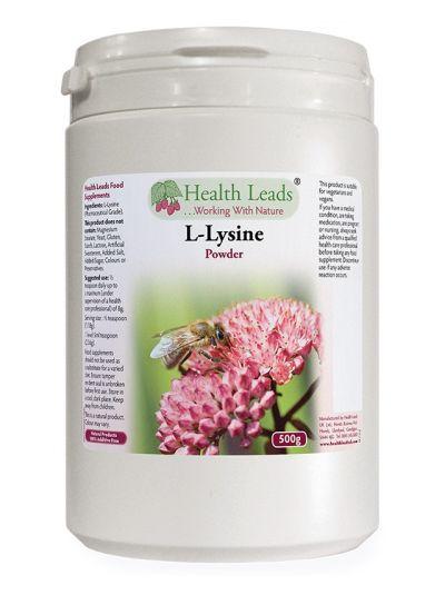 Health Leads 100% reines L-Lysin Pulver (pharmazeutische Qualität) 500g