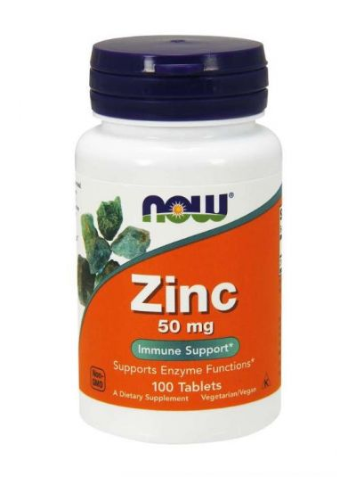 NOW FOODS ZINK 50 MG 100 TABLETTEN