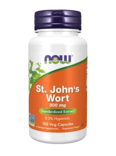 NOW FOODS ST. JOHN'S WORT (JOHANNISKRAUT), 300MG, 100 VEGETABILISCHE KAPS