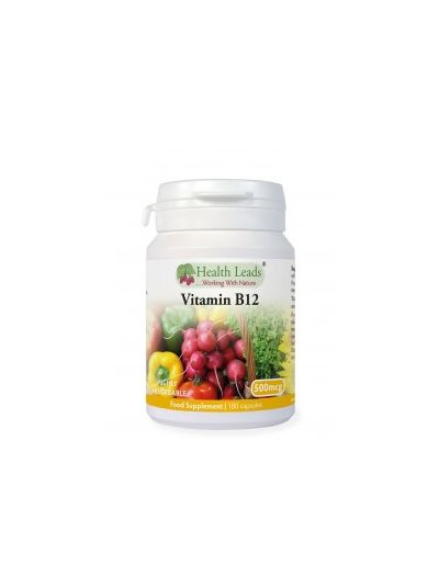 HEALTH LEADS VITAMIN B12 METHYLCOBALAMIN 500MCG X 180 KAPSELN