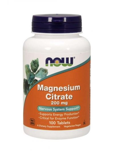 NOW FOODS MAGNESIUMCITRAT 200 MG 100 TABLETTEN