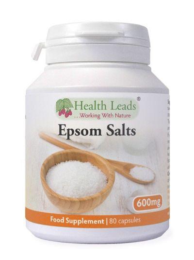 HEALTH LEADS EPSOM SALZE (BITTERSALZ) 600 mg 80 KApseln