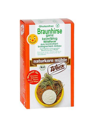 WERZ NATURKORNMÜHLE Braunhirse ganz, keimfähig, glutenfrei 500gr