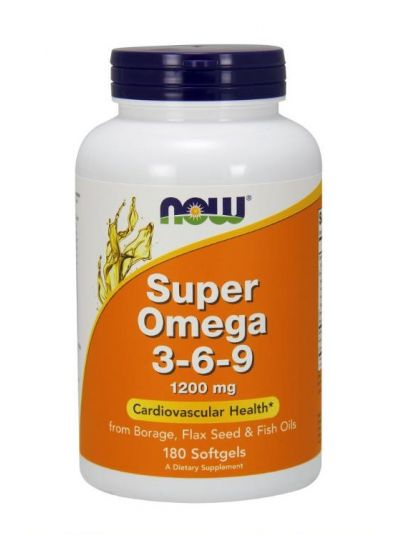 NOW FOODS SUPER OMEGA 3 - 6 - 9 1200 MG 180 GELKAPSELN