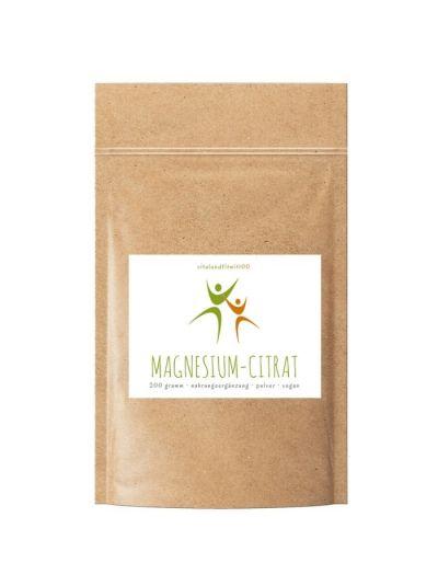 Vitalundfitmit100 Magnesium Citrat Pulver 200-500g