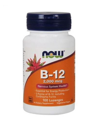 Now Foods B-12, 2.000 mcg 100 Lutschtablette