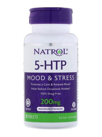 NATROL 5-HTP TIME-RELEASE (ZEITFREIGABE), Maximum STÄRKE, 200 MG, 30 TABLETTEN