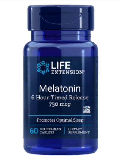Life Extension Melatonin 750 mcg 6 Hour Timed Release