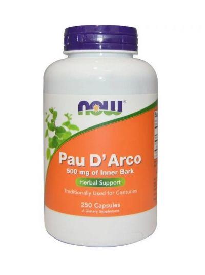 Now Foods Pau D' Arco 500 mg 250 Kapseln