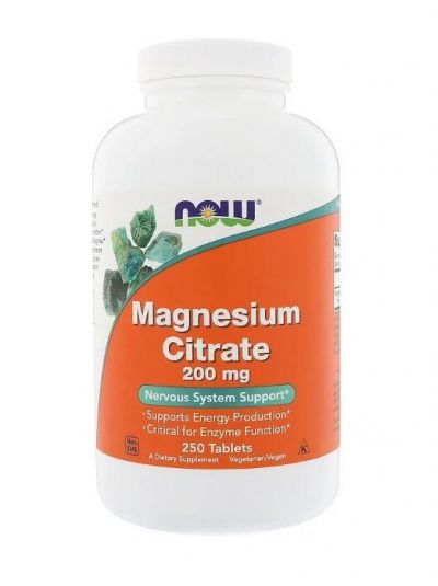 Now Foods Magnesiumcitrat 200 mg 250 Tabletten