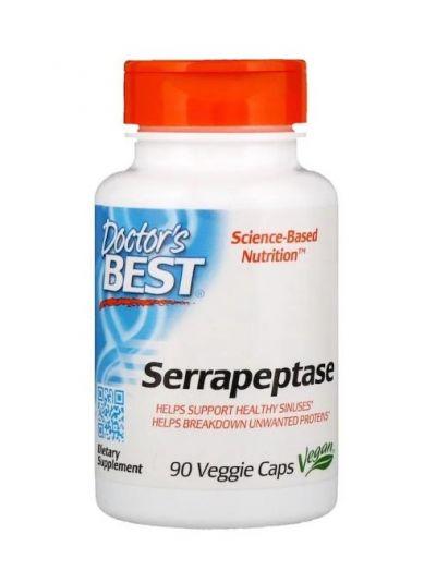 Doctor's Best Serrapeptase 40.000IU 90 Veggie Kapseln