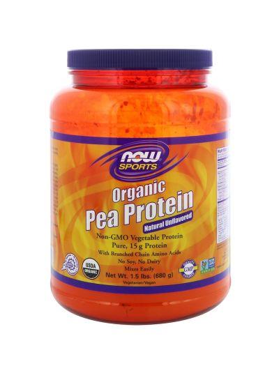 Now Foods 100 % reines Bio Erbsenprotein (Geschmacksneutral) 680 g
