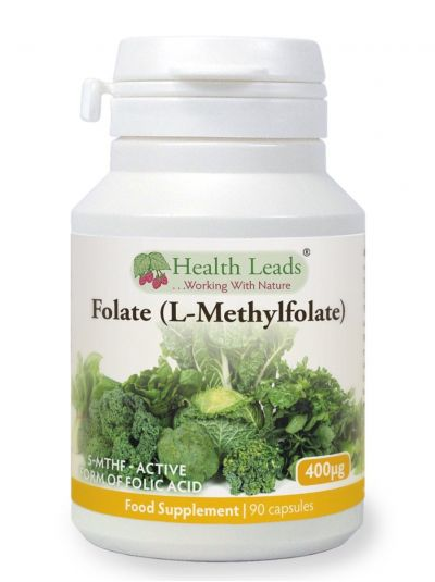 HEALTH LEADS FOLAT (L-Methylfolat) 400MCG X 90 KAPSELN