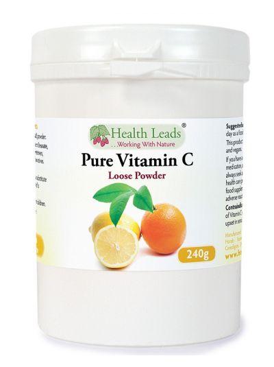 Health Leads Vitamin C Ascorbin Säure Pulver 240g