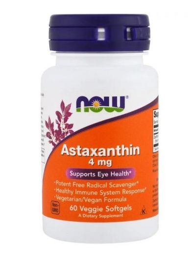 Now Foods Astaxanthin 4 mg 60 vegetarische Softgels