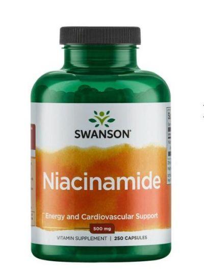 Swanson Niacinamid 500 mg 250 Kapseln