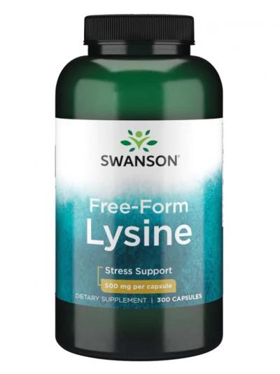 Swanson Premium - Freiform-L-Lysin - 500 mg - 300 Kapseln