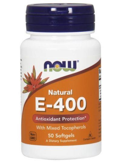 Now Foods Natürliches E-400 mit mixed Tocopherolen 50 Softgelkap