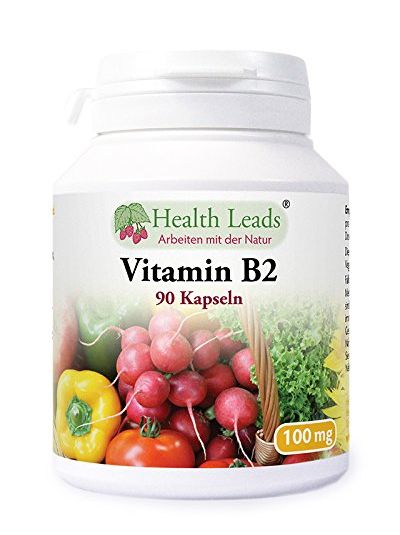 Health Leads Vitamin B2 Riboflavin 100mg x 90 Kapseln
