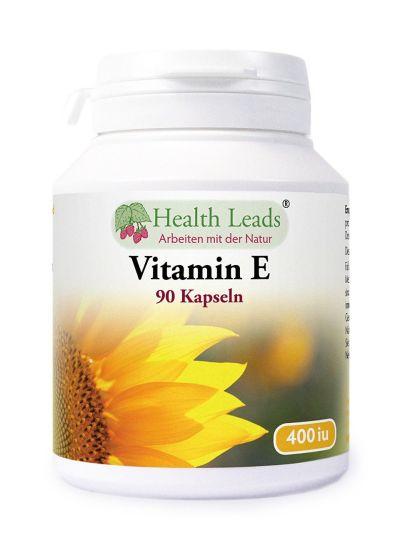 HEALTH LEADS Vitamin E 400IU x 90 Gelatinekapseln