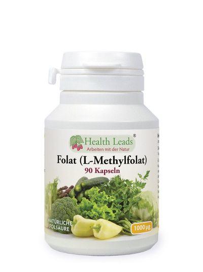 Health Leads Folat 1000mcg x 90 Kapseln
