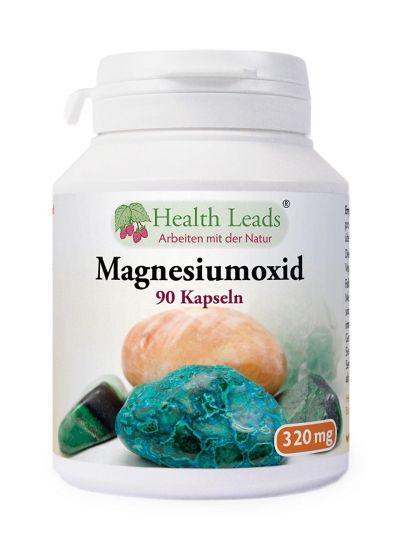 Health Leads Magnesiumoxid 320 mg x 90 Kapseln