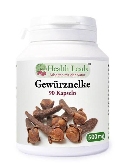 Health Leads Gewürznelken (Syzgium aromatica) 500 mg x 90 Gelatinekapseln