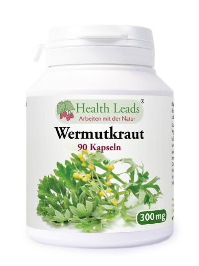 Health Leads Wermut kraut Wormwood 300 mg 90 Kapseln