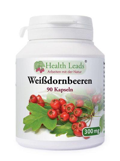 Health Leads Weissdornbeeren 300mg x 90 kapseln