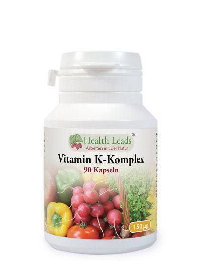 HEALTH LEADS Vitamin K Komplex 150 mcg X 90 Kapseln