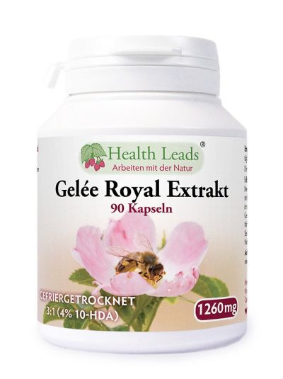 Health Leads Weiselfuttersaft Gelée Royal Jelly Hochdosiert 1260 mg Extrakt x 90 Kaps