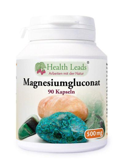 HEALTH LEADS MAGNESIUMGLUCONAT 500MG 90 KAPS