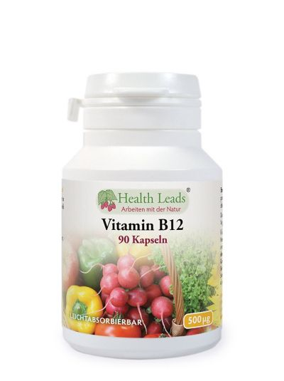 Health Leads Vitamin B12 500mcg x 90 Kapseln