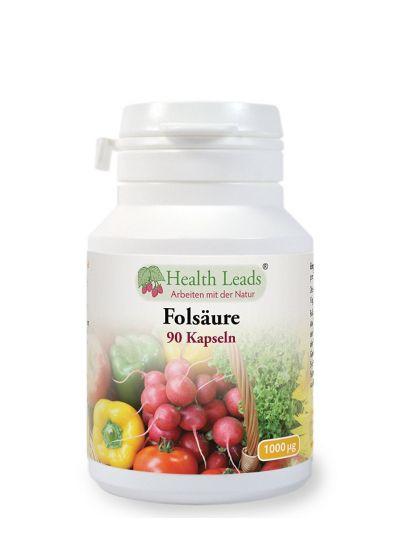 Health Leads Folsäure 1000 mcg X 90 Kapseln