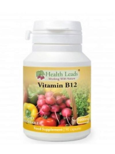 HEALTH LEADS VITAMIN B12 METHYLCOBALAMIN 1000MCG X 90 KAPSELN