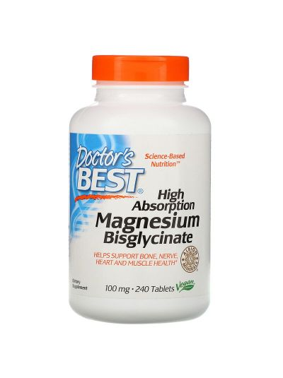 Doctor's Best, Magnesiumbisglycinat mit hoher Absorption, 100 mg, 240 Tabletten