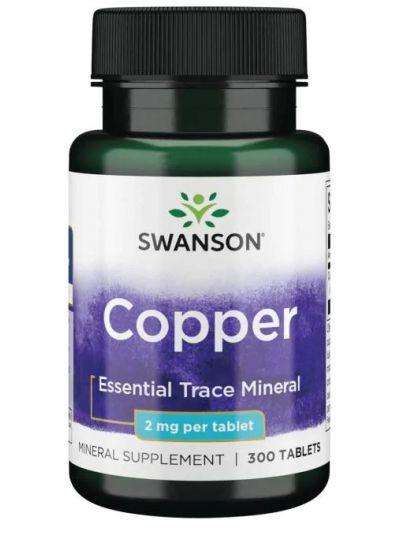 Swanson Premium-Kupfer 2 mg 300 Tabletten