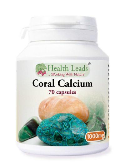 Health Leads Koralle Kalzium 1000mg x 70 Kapseln