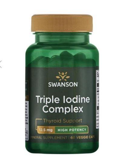 Swanson Dreifacher Jodkomplex 12,5 mg 60 Kapslen