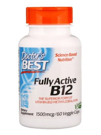 Doctor's Best Full Actives B12, 1500 mcg 60 vegetarische Kapseln